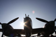 Relámpago de la luz del sol Imagen de archivo libre de regalías
