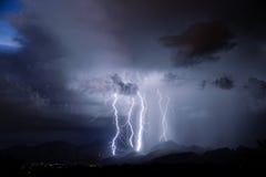 Relámpago de Tucson Foto de archivo libre de regalías