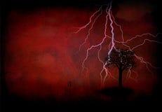 Relámpago del árbol Imagen de archivo libre de regalías