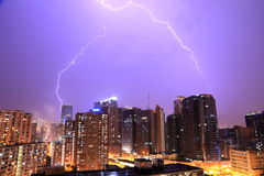 Relámpago en Hong Kong Imagenes de archivo