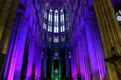 Relámpago en la catedral del ` s de Beauvais Imagen de archivo libre de regalías