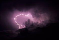Relámpago en nube Fotos de archivo