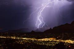 Relámpago sobre Sedona, Arizona fotografía de archivo