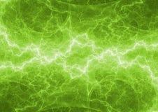 Relámpago verde del plasma Fotos de archivo