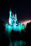 Relâmpago atrás do reino mágico Foto de Stock