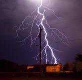 Relâmpago da companhia de electricidade Foto de Stock