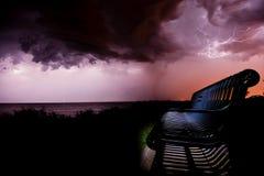 Relâmpago da praia de Brigghton Imagem de Stock Royalty Free