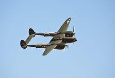 Relâmpago do vintage P-38 fotografia de stock