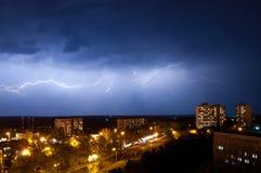 Relâmpago em Kharkov Fotos de Stock Royalty Free