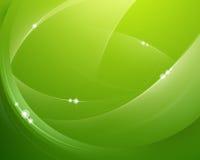 Relâmpago verde macio Fotos de Stock