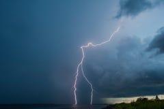 Relâmpagos 3 do temporal Fotos de Stock Royalty Free