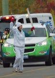 Relè olimpico della torcia, giochi 2010 Immagini Stock Libere da Diritti