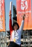 Relè olimpico della torcia a San Francisco Fotografie Stock Libere da Diritti
