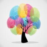 Relève les empreintes digitales de l'arbre de diversité illustration stock