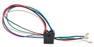 Relé da conexão dos fios isolado no branco Fotos de Stock