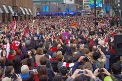 Relé de tocha dos Olympics de Vancôver Fotos de Stock