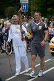 Relé olímpico Bakewell da tocha Fotografia de Stock Royalty Free