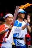 Relé olímpico da tocha Imagem de Stock