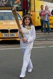 Relé olímpico da tocha de Londres 2012 Fotos de Stock