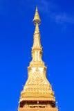 Relíquias superiores do templo do pagoda, assoalho nove em Khon Kaen Imagens de Stock