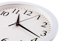 Relógio com seletor branco Foto de Stock Royalty Free