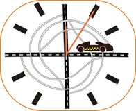 Relógio da estrada Imagem de Stock Royalty Free