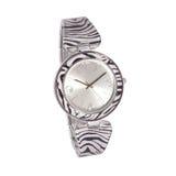 Relógio da mulher da zebra Fotografia de Stock