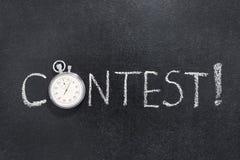 Relógio da palavra da competição foto de stock royalty free
