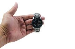 Relógio da posse da mão Foto de Stock Royalty Free
