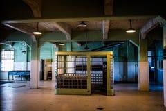 Relógio da prisão de Alcatraz Fotos de Stock