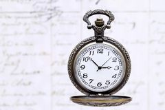 Relógio de bolso antigo Fotos de Stock Royalty Free