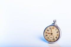 Relógio de bolso velho do vintage - espaço para o texto imagens de stock royalty free