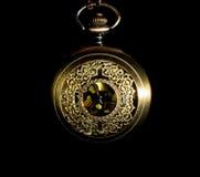 Relógio de bolso - baixa chave imagens de stock royalty free