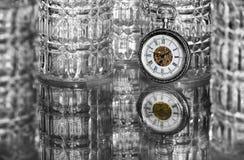Relógio de bolso com vidros Imagem de Stock Royalty Free