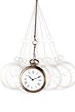 Relógio de bolso de prata imagem de stock