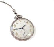 Relógio de bolso de prata Fotografia de Stock Royalty Free
