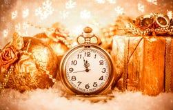 Relógio de bolso do Natal Fotos de Stock