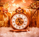 Relógio de bolso do Natal Foto de Stock