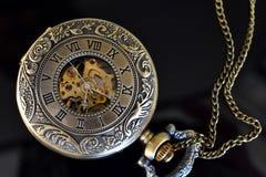 Relógio de bolso do ouro Foto de Stock