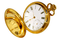 Relógio de bolso do ouro foto de stock royalty free