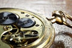relógio de bolso do ouro 14k fotografia de stock