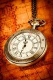 Relógio de bolso do vintage Foto de Stock