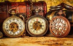 Relógio de bolso do vintage Imagens de Stock