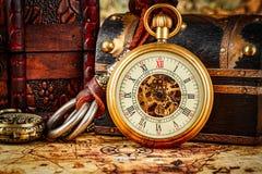 Relógio de bolso do vintage Fotos de Stock