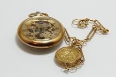 Relógio de bolso do vintage imagem de stock royalty free