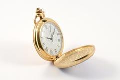 Relógio de bolso dourado Foto de Stock Royalty Free