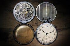 Relógio de bolso, para dentro e tampas Fotos de Stock Royalty Free