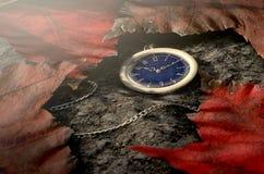 Relógio de bolso perdido na corrente Fotos de Stock