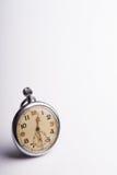 Relógio de bolso arrastado velho - espaço para o texto fotografia de stock royalty free