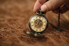 Relógio de bolso velho do vintage Foto de Stock